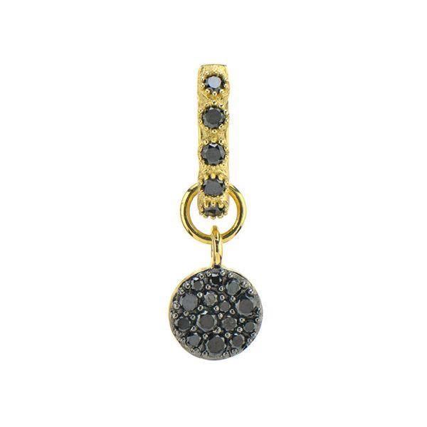 Black Diamond Pave Circle Charms ( Pair) Mystique Jewelers Alexandria, VA
