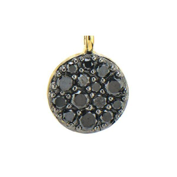 Black Diamond Pave Circle Charms ( Pair) Image 2 Mystique Jewelers Alexandria, VA