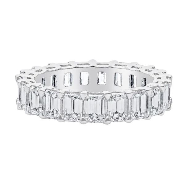 Diamond Emerald cut  4 ct eternity band  Mystique Jewelers Alexandria, VA