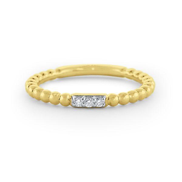 Diamond Milgrain Stack Ring Set in 14 Kt. Gold Mystique Jewelers Alexandria, VA