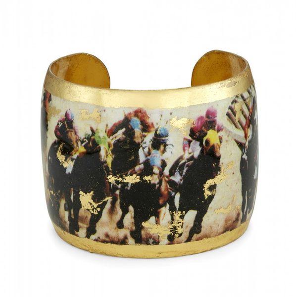 Saratoga Horses Dirt Track Cuff Mystique Jewelers Alexandria, VA