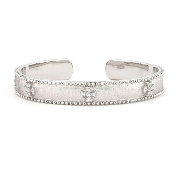 JudeFrances Silver Narrow Beaded Maltese Cuff Mystique Jewelers Alexandria, VA