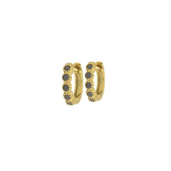 Petite Bezel Hoop Earring pair Mystique Jewelers Alexandria, VA