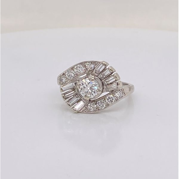 Platinum Diamond Vintage Ring Mystique Jewelers Alexandria, VA