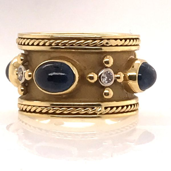 18K Yellow Gold Sapphire Ring Image 2 Mystique Jewelers Alexandria, VA