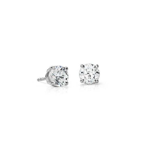 1.42ct Diamond Stud Earrings Image 2 Mystique Jewelers Alexandria, VA