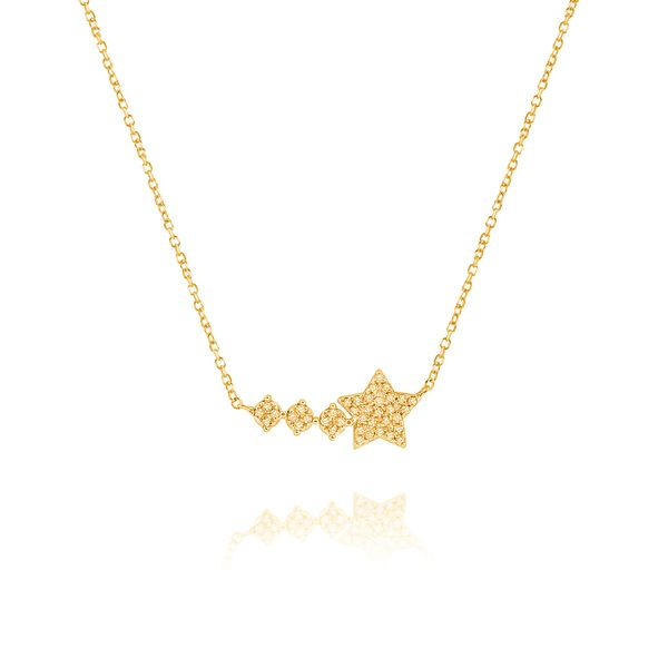 14K Gold and Diamond Star Shooting Star Necklace Mystique Jewelers Alexandria, VA