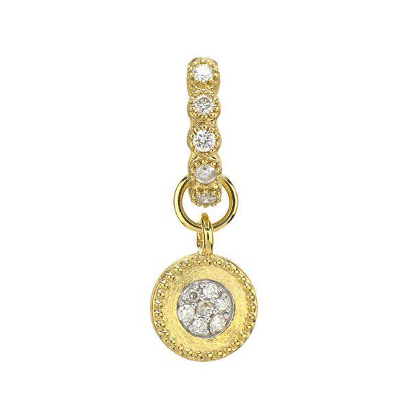 Petite Diamond Brushed Pave Charm Mystique Jewelers Alexandria, VA