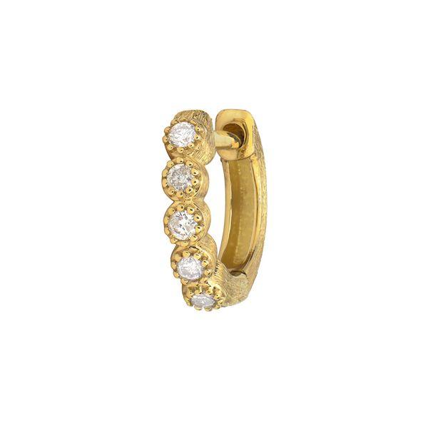 Petite Bezel Hoop Earring Mystique Jewelers Alexandria, VA