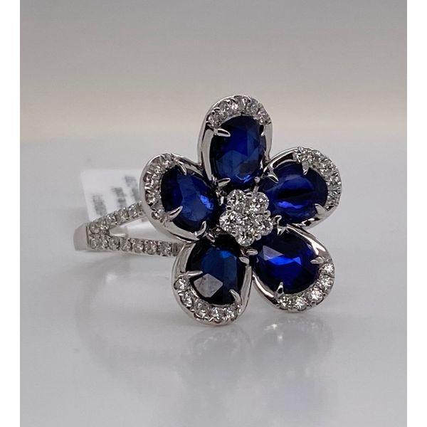 Blue Sapphire Petal Ring  Mystique Jewelers Alexandria, VA