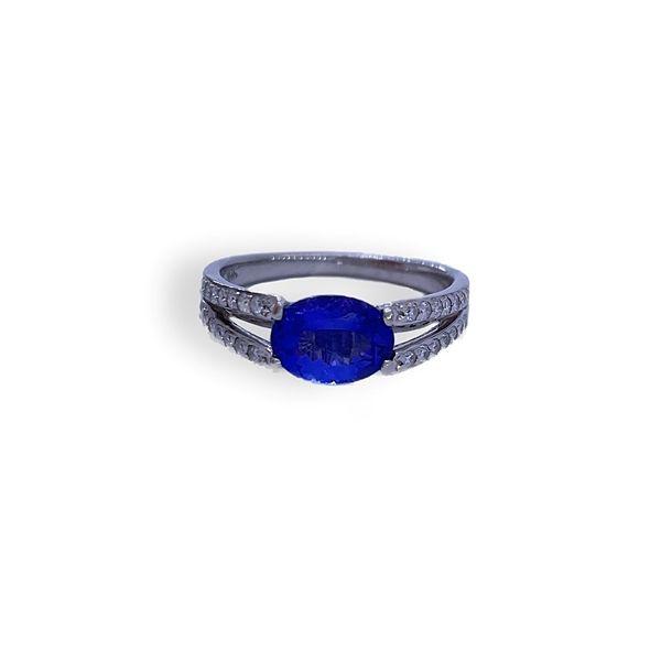 Oval Tanzanite Diamond Ring  Mystique Jewelers Alexandria, VA