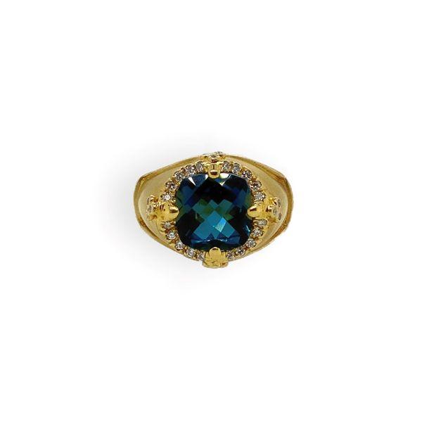 Diamond and Blue Topaz Ring Mystique Jewelers Alexandria, VA