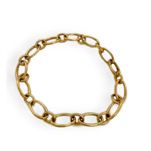 Gold Oval Link Bracelet  Mystique Jewelers Alexandria, VA