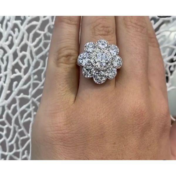 Flower Diamond Ring  Mystique Jewelers Alexandria, VA