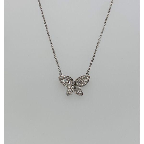 Diamond Butterfly Necklace Mystique Jewelers Alexandria, VA