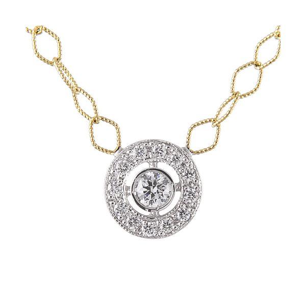 Circle Diamond Disk Necklace Image 2 Mystique Jewelers Alexandria, VA
