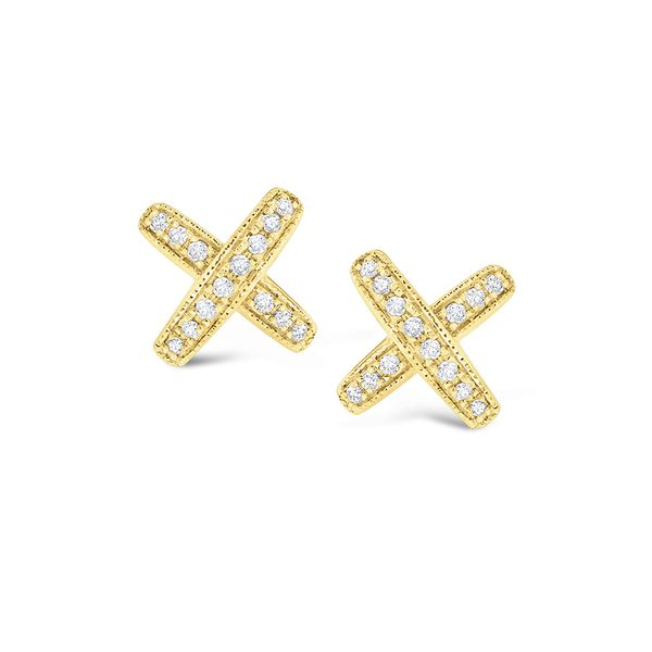 Diamond  X Kiss Earrings Mystique Jewelers Alexandria, VA
