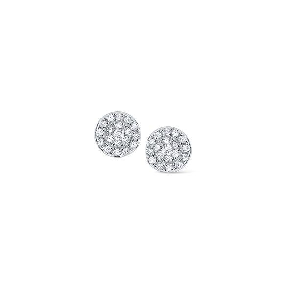 Circular Diamond Stud Earrings Mystique Jewelers Alexandria, VA