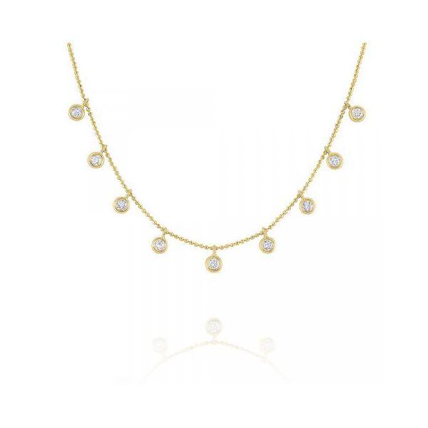 Floating Round Diamond Station Necklace Mystique Jewelers Alexandria, VA