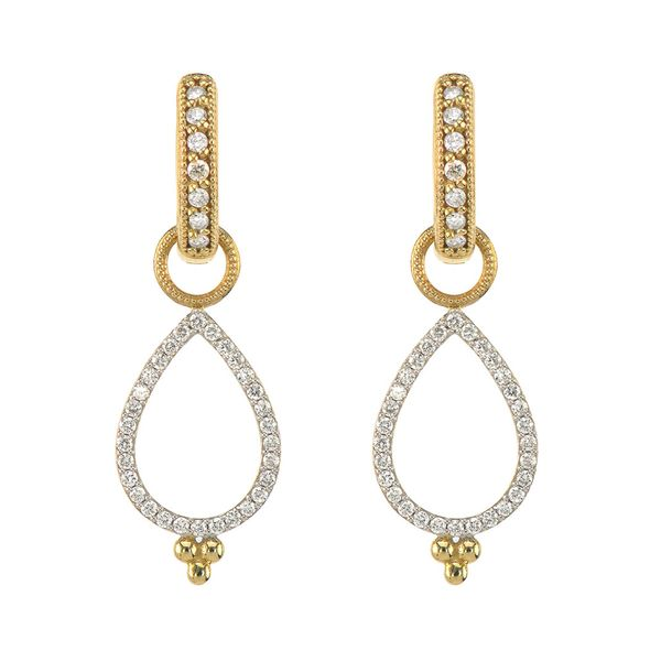 Delicate Open Pear Pave Earring Charms Mystique Jewelers Alexandria, VA