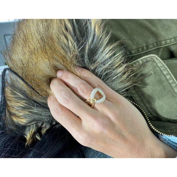 18K pave diamond gold ring Image 2 Mystique Jewelers Alexandria, VA