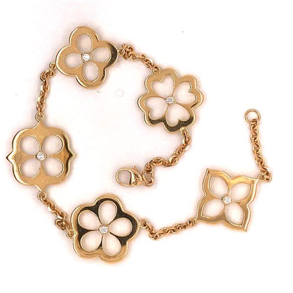 Diamond Lotus Petal Motif Bracelet Mystique Jewelers Alexandria, VA