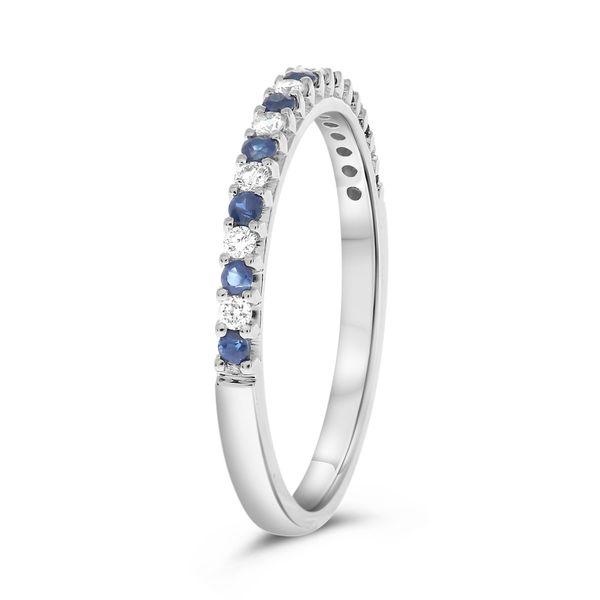 Sapphire & Diamond Band Image 3 Mystique Jewelers Alexandria, VA
