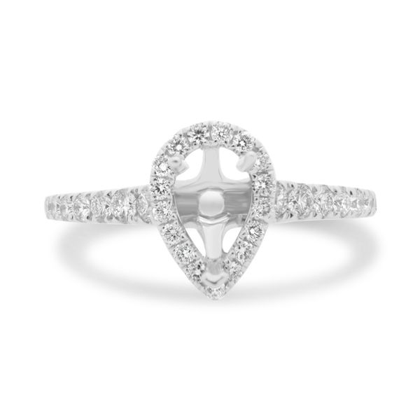 Pear-shaped Diamond Pave Engagement Setting Mystique Jewelers Alexandria, VA