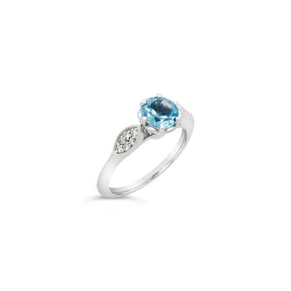 Aquamarine diamond ring  Mystique Jewelers Alexandria, VA