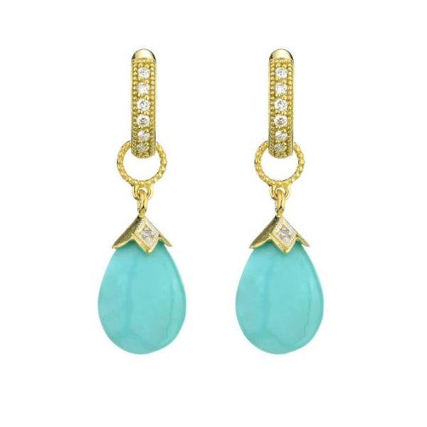 Pear Shape Briolette Turquoise Charms Mystique Jewelers Alexandria, VA