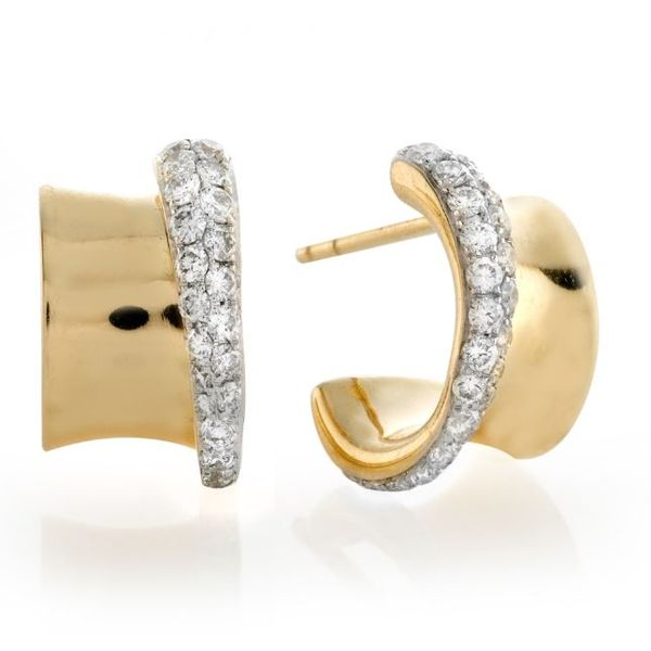 18kt Yellow Gold Diamond Earrings Mystique Jewelers Alexandria, VA