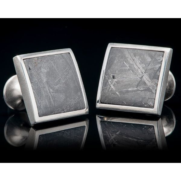 Meteorite Cufflinks Mystique Jewelers Alexandria, VA