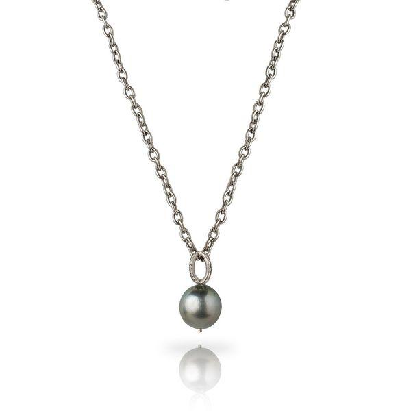 Pearl Necklace with Diamond Accent Mystique Jewelers Alexandria, VA
