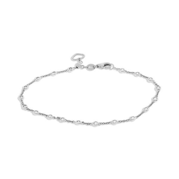 White Gold Diamond by the Yard Bracelet  Mystique Jewelers Alexandria, VA