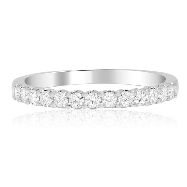 White Gold Shared Prong Diamond Band  Mystique Jewelers Alexandria, VA