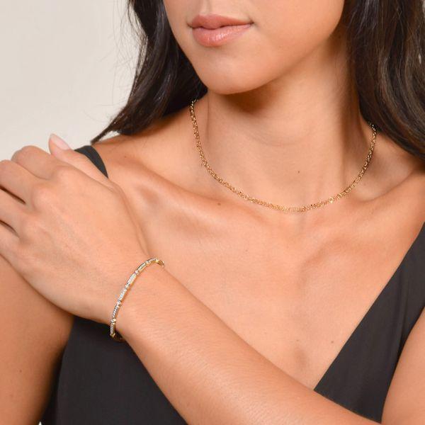 Hammered Circle Chain Image 2 Mystique Jewelers Alexandria, VA