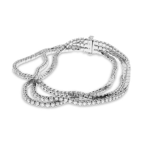 White Gold Three Row Diamond Bracelet Mystique Jewelers Alexandria, VA