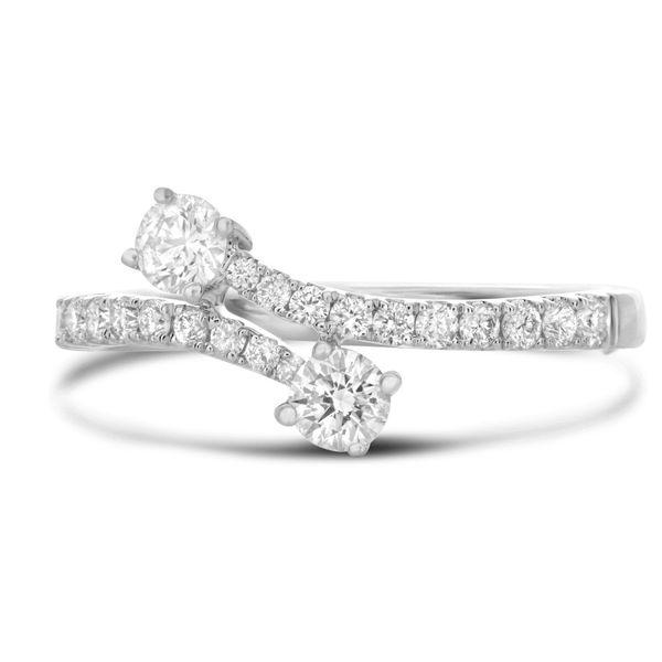 White Gold & Diamond Bypass Ring Mystique Jewelers Alexandria, VA