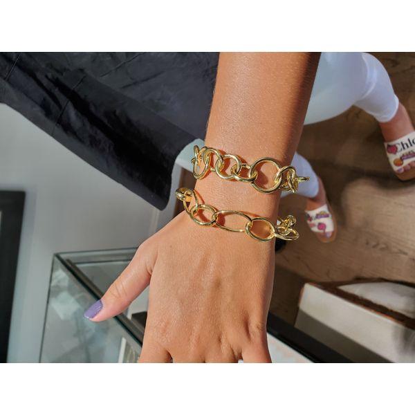 14K Large Oval Link Bracelet Image 2 Mystique Jewelers Alexandria, VA