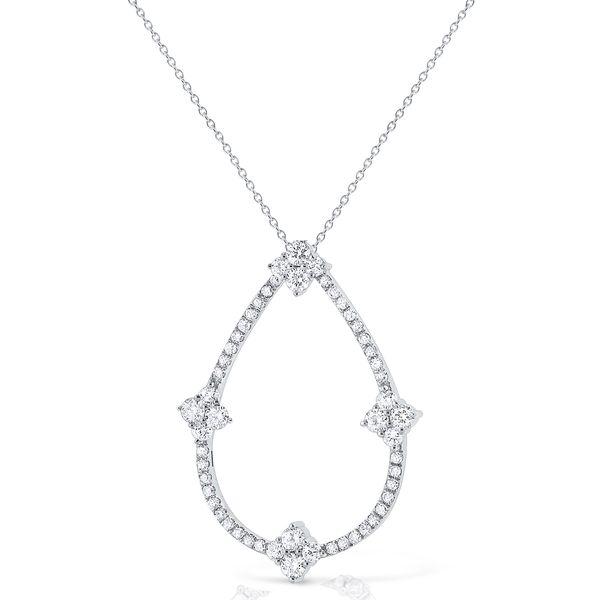 Diamond Open Pear Necklace Mystique Jewelers Alexandria, VA