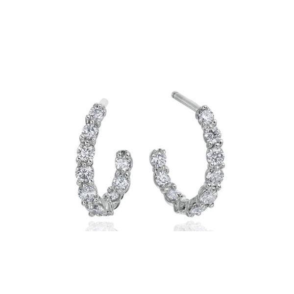 GUMUCHIAN DIAMOND J HOOPS Mystique Jewelers Alexandria, VA