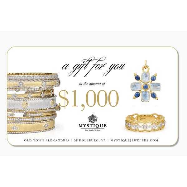 1000 Gift Card Image 2 Mystique Jewelers Alexandria, VA