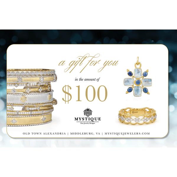 100 Gift Card Image 2 Mystique Jewelers Alexandria, VA