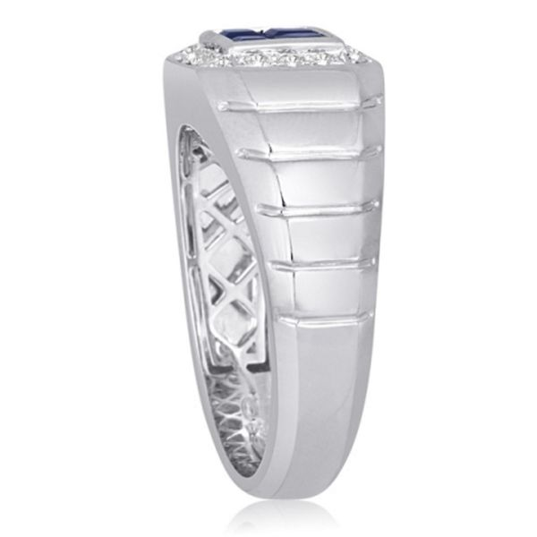 Sapphire Diamond Band  Image 2 Mystique Jewelers Alexandria, VA