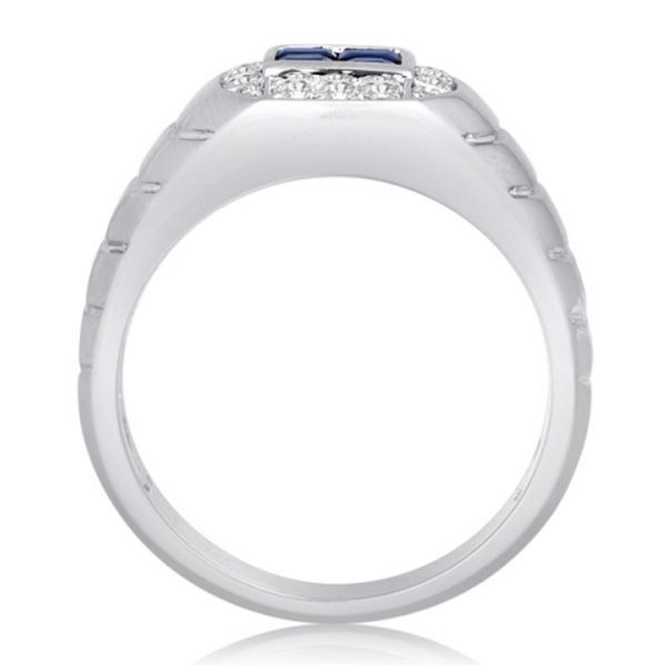 Sapphire Diamond Band  Image 3 Mystique Jewelers Alexandria, VA
