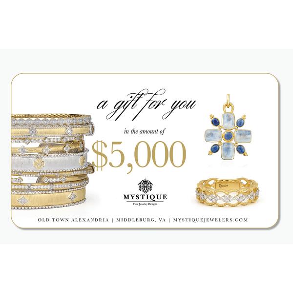 5000 Gift Card Image 2 Mystique Jewelers Alexandria, VA