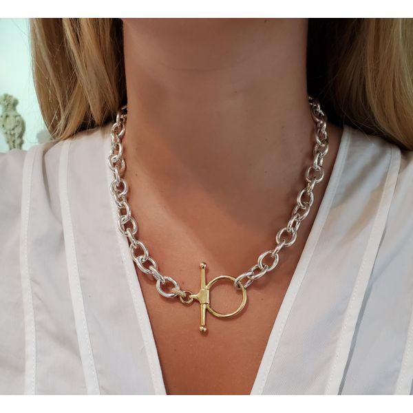 Fulmer Bit Chain Necklace   Gold Image 2 Mystique Jewelers Alexandria, VA