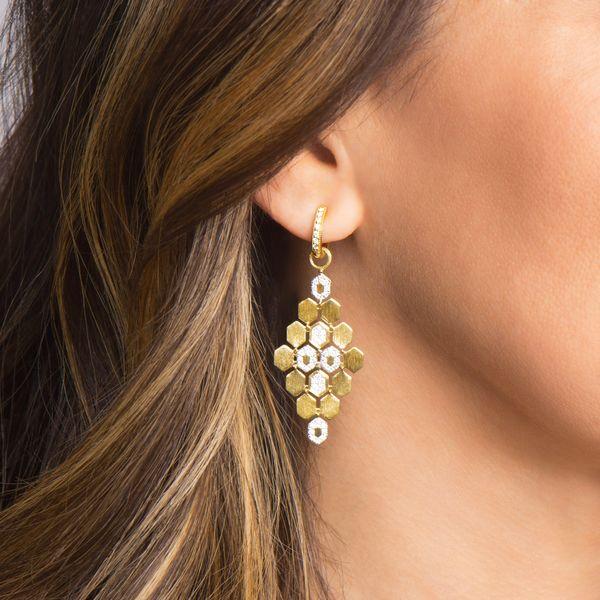 Hexagon Chandelier Earring Charms Image 2 Mystique Jewelers Alexandria, VA