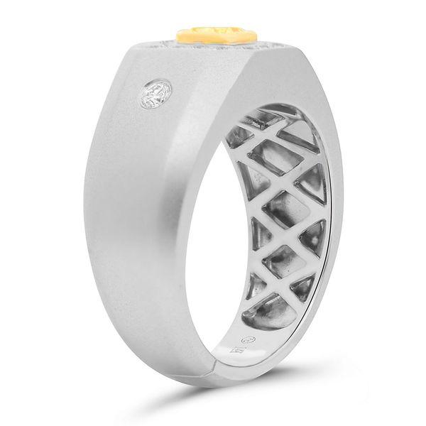 Men's Yellow Diamond Engagement Ring Image 3 Mystique Jewelers Alexandria, VA