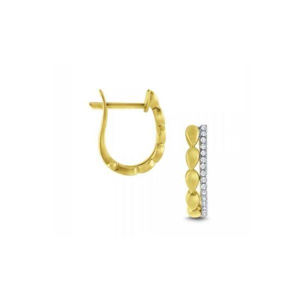 Diamond Mini Hoop Earrings Mystique Jewelers Alexandria, VA
